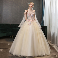Colored Wedding Dresses Long Length lace flower Sweet Heart Fashion Fantasy Sexy Trailing Bridal Skirt