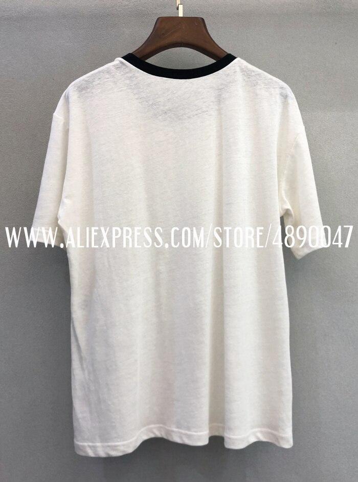 Ранняя весна Цветочная вышивка часы футболка высокого класса женская футболка с коротким рукавом Топ