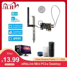 EWeLink Mini PCI e Desktop PC Fernbedienung Schalter Boot Karte WiFi Wireless Smart Switch Turn Auf/OFF Relais Modul neu starten Schalter