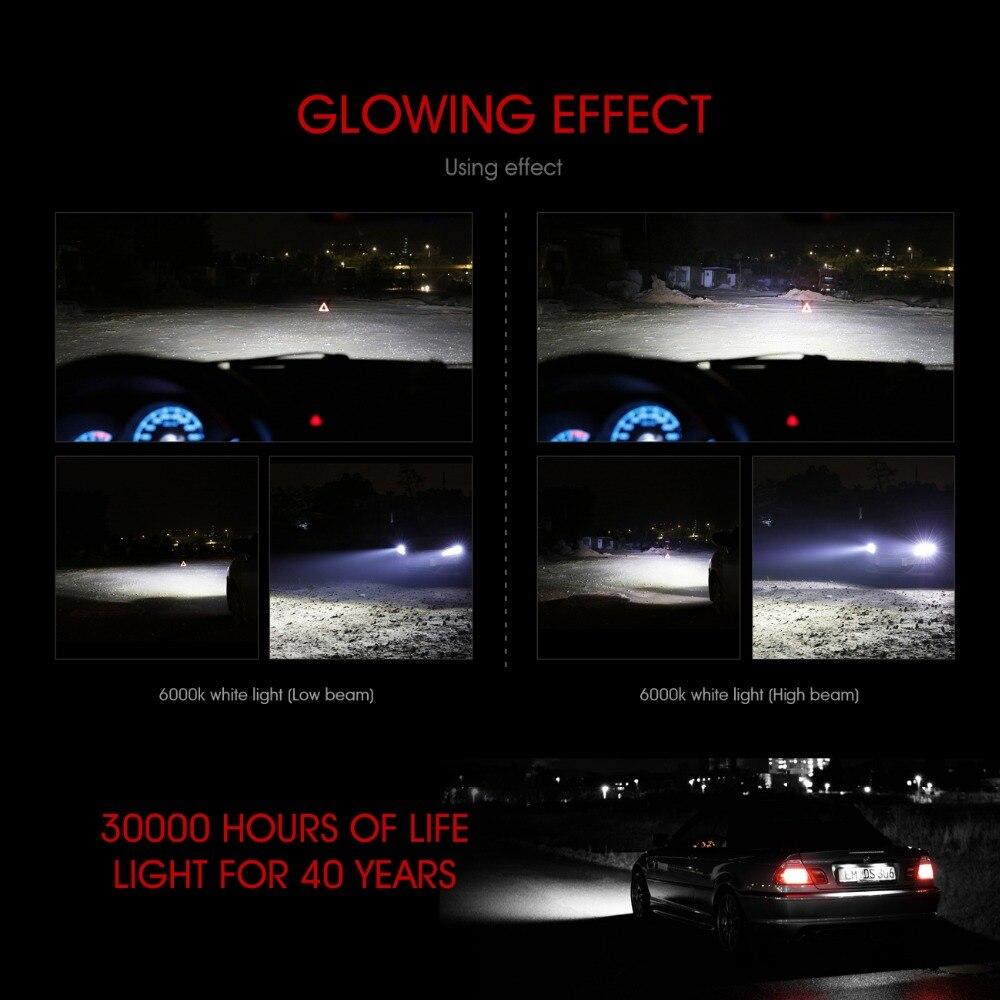2 x H4 led 72W 8000LM S2 Headlight Car Hi Lo Beam Auto Bulbs 6000K White