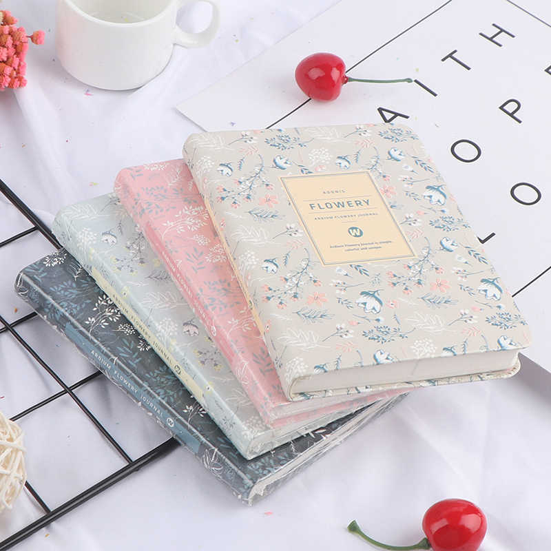 Agenda 2020 Kawaii Vintage Horario de flores semanal calendario mensual cuaderno diario libro de cuentas