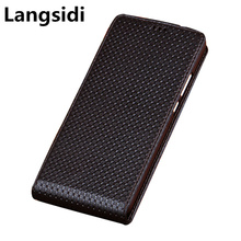 Business Genuine Leather Vertical Flip Cases For Me