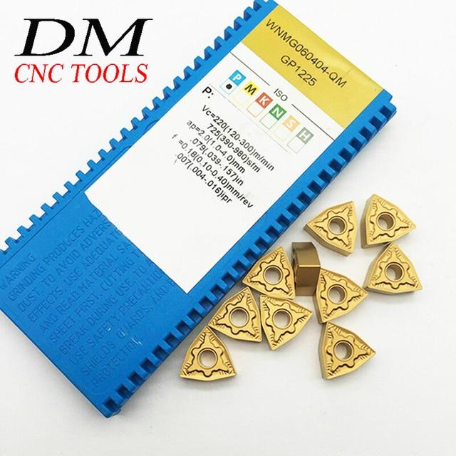 10PCS WNMG060404-QM GP1225 carbide inserts internal cutter turning tool CNC machine tungsten carbide tool Turning accessories