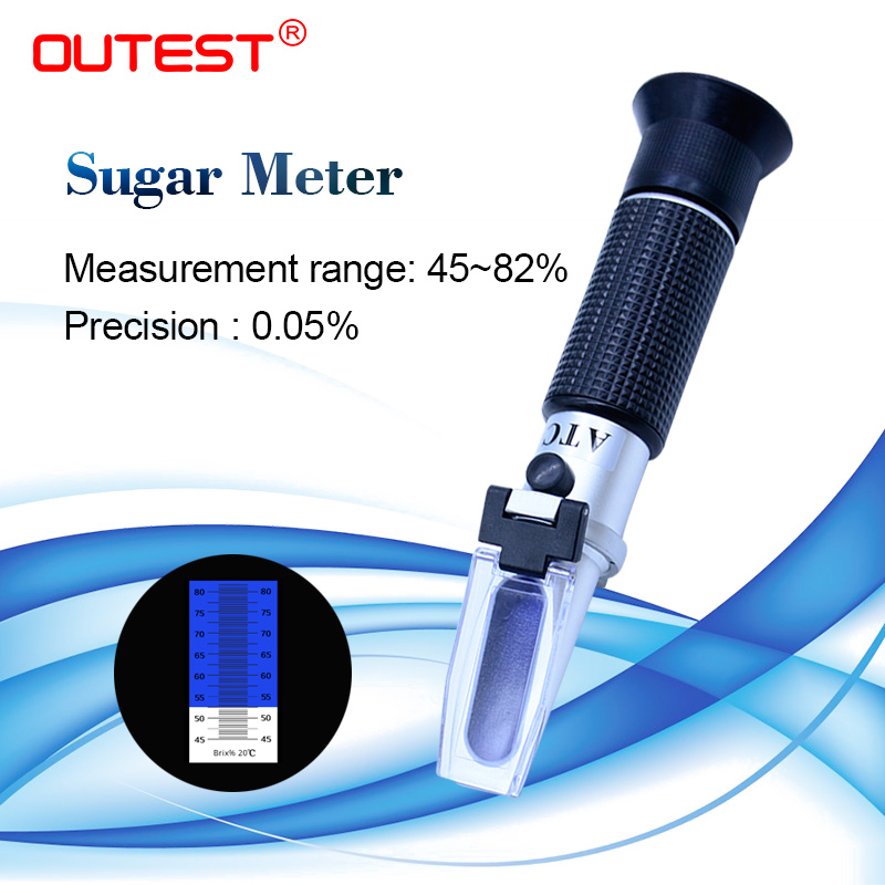 Brix Refractometer Sugar Tester Scale Beer Wine Fruit Juice Analog 0 to 10/% ATC