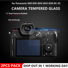 2PCS S5 Camera Original 9H Camera Tempered Glass  for Panasonic  G90 G95 GF10 GF90 GH4 GH3 GX8 DC S5 Camera LCD Screen Protector