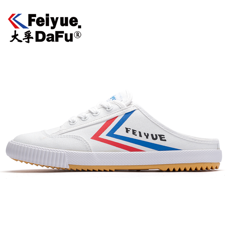 Dafu Feiyue Canvas Shoes Men's Women's Half-slipper Platform Loafers Fashion New Comfortable Non-slip Breathable Durable 506