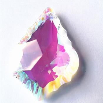 50pcs AB Color 63mm Crystal leaf pendant, crystal chandelier pendant for DIY curtain,Chandelier Parts decoration