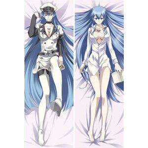 Anime Akame ga zabić Akame Esdeath Kurome przytulanie poszewka na poduszkę otaku Sexy 3D drukuj Dakimakura poszewka na poduszkę Brithday prezenty