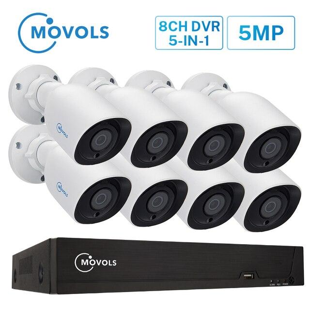 MOVOLS HD 5MP H.265 An Ninh Hệ Thống Camera Ngoài Trời Trong Nhà 8 CHIẾC Camera quan sát Ban Đêm Video Giám Sát Hệ Thống 8CH ĐẦU GHI HÌNH bộ