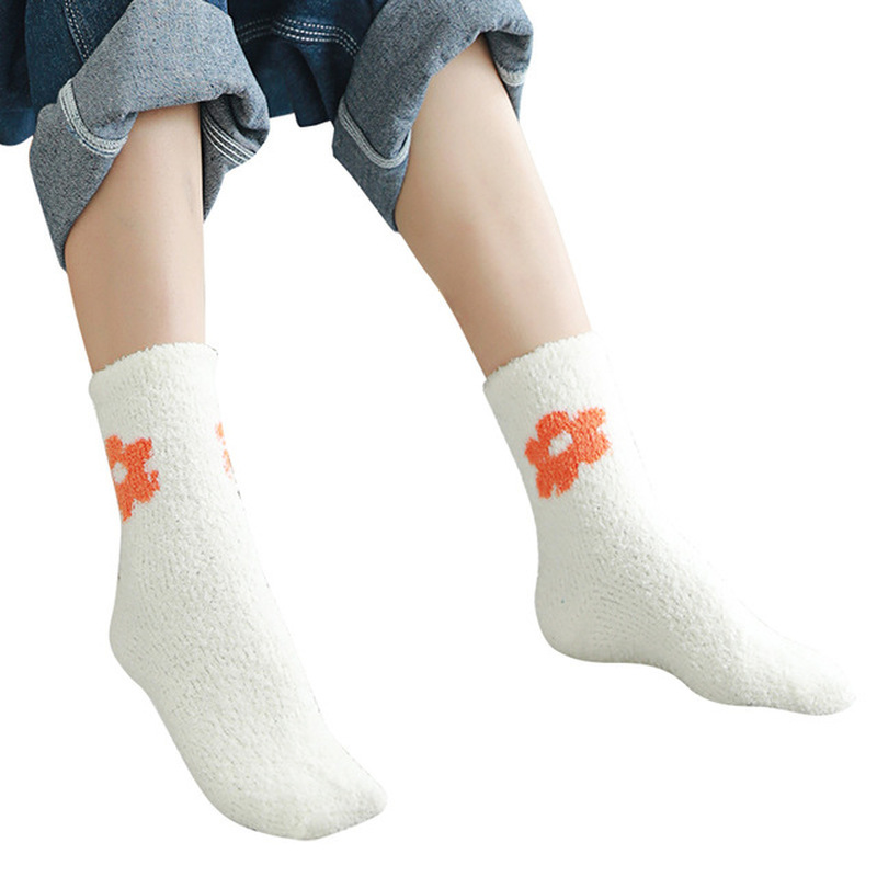 Mens Soft Fluffy Coral Fleece Home Bed Floor Socks Winter Thick Warm Fuzzy Sock