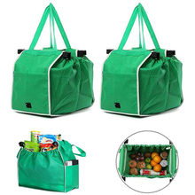 1Pc Convenience Shopping Bag Cart Trolley Foldable Reusable Grocery Eco Supermarket Tote Organizer