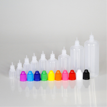 10Pcs 3/5/10/15/20/30/50/100/120ml Empty LDPE Plastic Dropper Bottle Eliquid Vape juice Bottle Squeezable with 1 Funnel 7 colors scrub skull bitter bottle of bitter medicine dropper bitter bottle 30 60 120ml