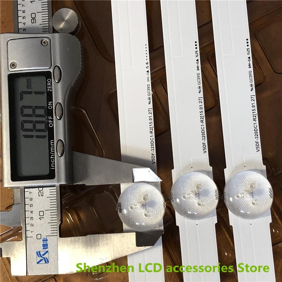4Pieces/lot For Samsung UE32J6300AW/UE32J6300AK/32J6370SU Lamp Bar V5DF 320DC1 R2 V5DF 320DC1 R2/LM41 00117P 7LEDS NEW|Flash Parts| |  - title=