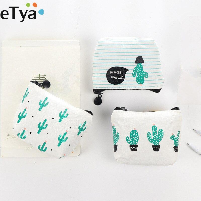 ETya, милый женский кошелек с рисунком для маленьких детей, кошелек для монет, кошелек для монет, сумочка для денег, сумка для ключей С КАКТУСОМ coin purse change pouchcoin wallet   АлиЭкспресс - Кактусы