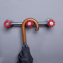 Лофт промышленная-стильная трубка Hallstand Вешалка из кованого железа настенная декоративная полка