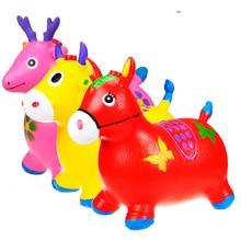 Детская музыка Прыгающая лошадь tiao lu воздушный насос надувная игрушка Толстая очень большая детская езда отправить сиденье