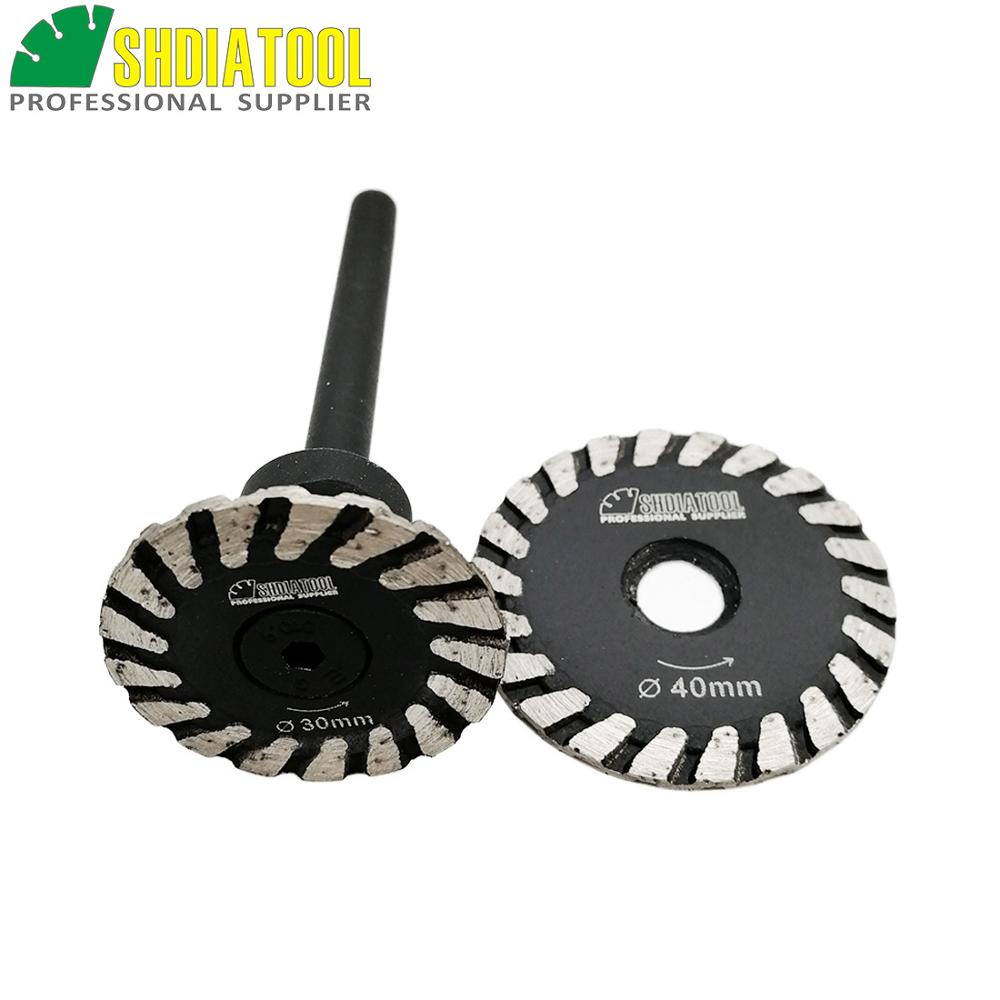 SHDIATOOL 1pc Mini Blade With Removable 6mm Shank And 1pc Mini Blade Without Removable 6mm Shank