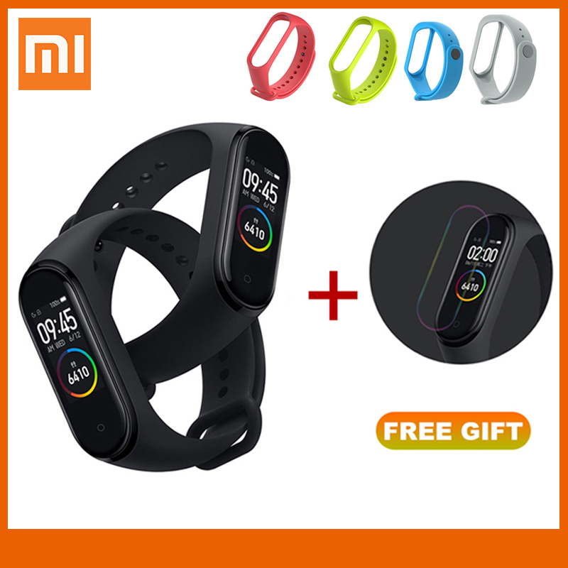 <font><b>In</b></font> <font><b>Stock</b></font> <font><b>Original</b></font> <font><b>Xiaomi</b></font> <font><b>Mi</b></font> <font><b>Band</b></font> <font><b>4</b></font> <font><b>Smart</b></font> <font><b>Miband</b></font> <font><b>3</b></font> Color Screen Bracelet Heart Rate Fitness Tracker Bluetooth5.0 Waterproof Band4 image