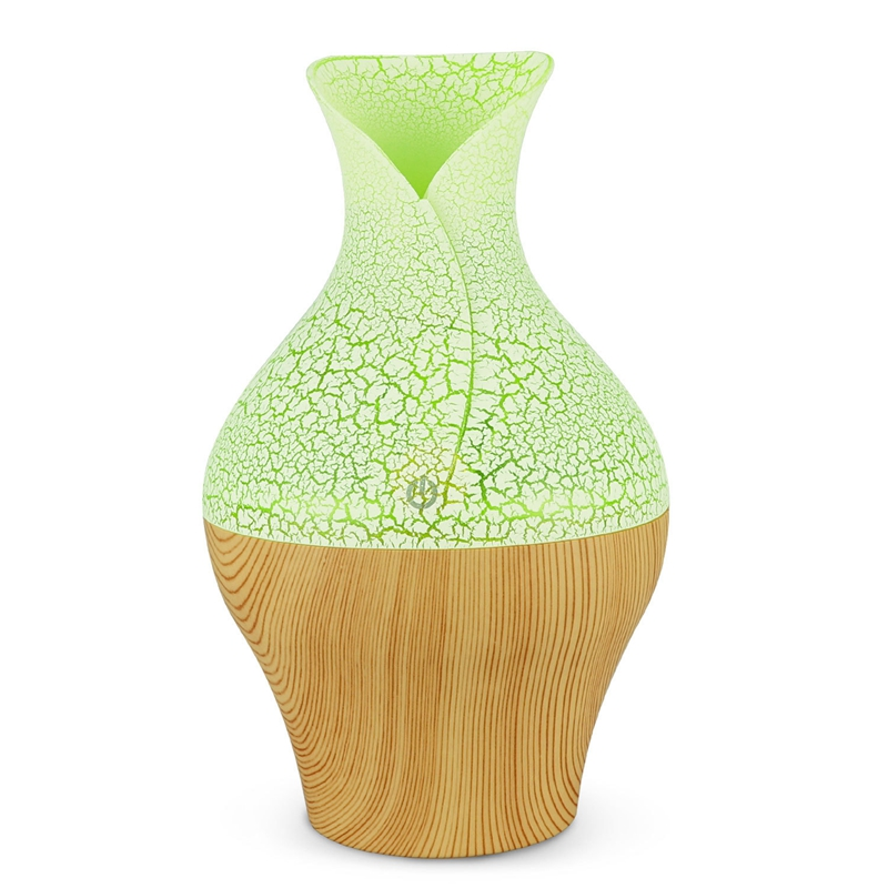 Electric Aroma Essential Oil Diffuser Ultrasonic Air Humidifier With Wood Grain 7 Color Changing Led Lights For Home Office|Humidifiers| |  - title=