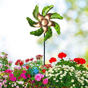 Słonecznik wiatrak kolorowy wiatraczek żelazny wiatrak wtyczka dekoracja wiatrak zabawki dom ogród dekoracja obejścia dzieci zabawki tanie i dobre opinie CN (pochodzenie) Akrylowe Krajobraz