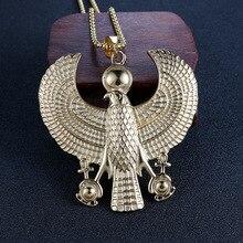Древний Египетский Гора кулон Ретро мужской большой орел Титановый стальной кулон на заказ ожерелье из нержавеющей стали Ювелирная цепочка