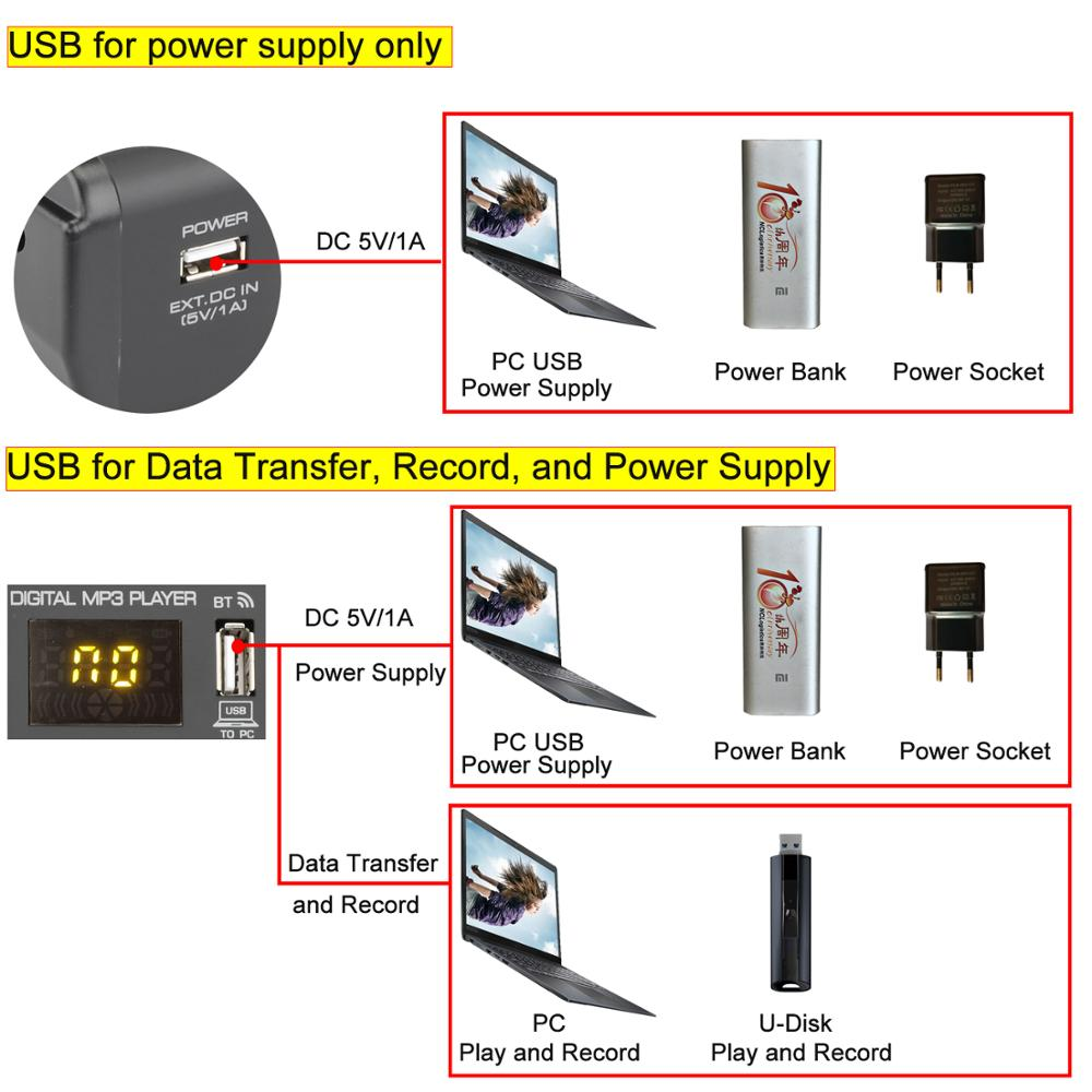 Freeboss AT-04M Tragbare DC 5V Netzteil Bluetooth Usb-schnittstelle 4 Kanal 16 Wirkung PC rekord Soundkarte Audio mixer Konsole