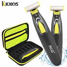 One Blade Hybrid Electric Trimmer Razor Shaver Waterproof Washable Beard Grooming Body Hair Groomer for Men and Women