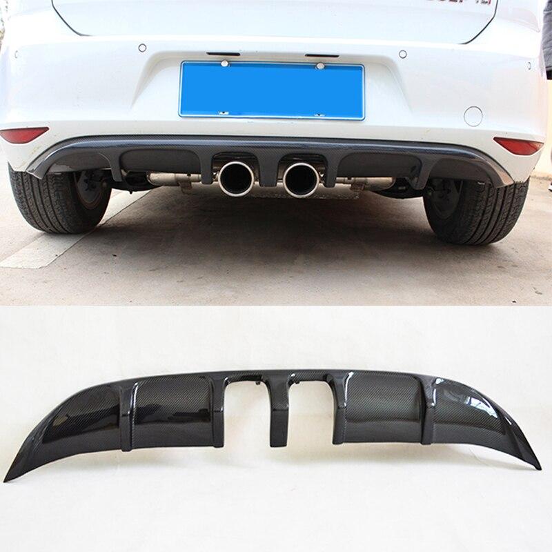 Golf 7 MK7 Carbon Fiber R Style Rear Bumper Lip Diffuser for Volkswagen VW Golf7  Car Styling Not R Line Not GTI|rear bumper lip|bumper lip|rear bumper diffuser - title=