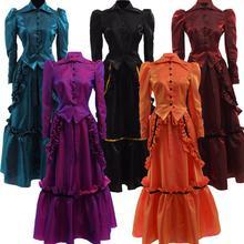 Женский Готический викторианский вампир наряд для Бала Лолита стимпанк Ретро индустриальный Возраст платье