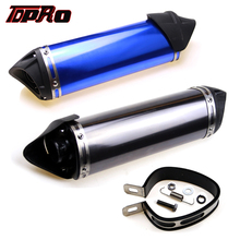 TDPRO 38mm CNC Exhaust Muffler Pipe With Removable Silencer & Clamp For 140cc 150cc 160cc 200cc Scooter Motorcycle ATV Dirt Bike