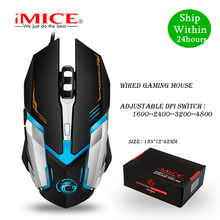 Imice V6 Bedrade Gaming Muis Usb Optische Muis 6 Knoppen Pc Computer Muis Gamer Muizen 4800 Dpi Voor Dota 2 lol Game