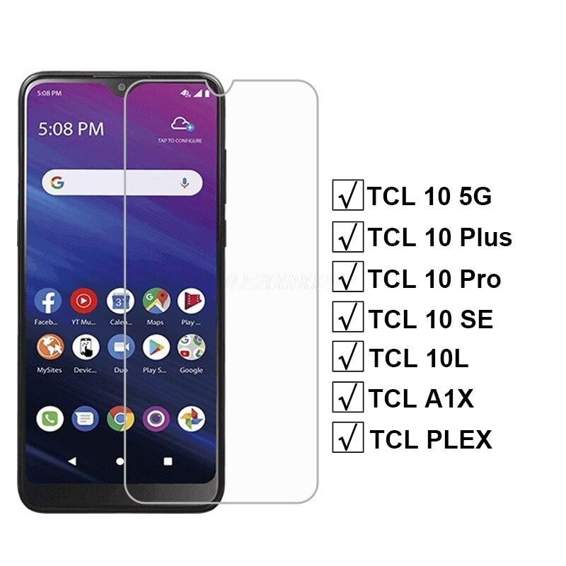 Защитное стекло для TCL 10 5G Plus Pro, закаленное стекло для TCL 10 20SE 10L, Защита экрана для TCL A2X A1X PLEX Pelicula, 3-1 шт.