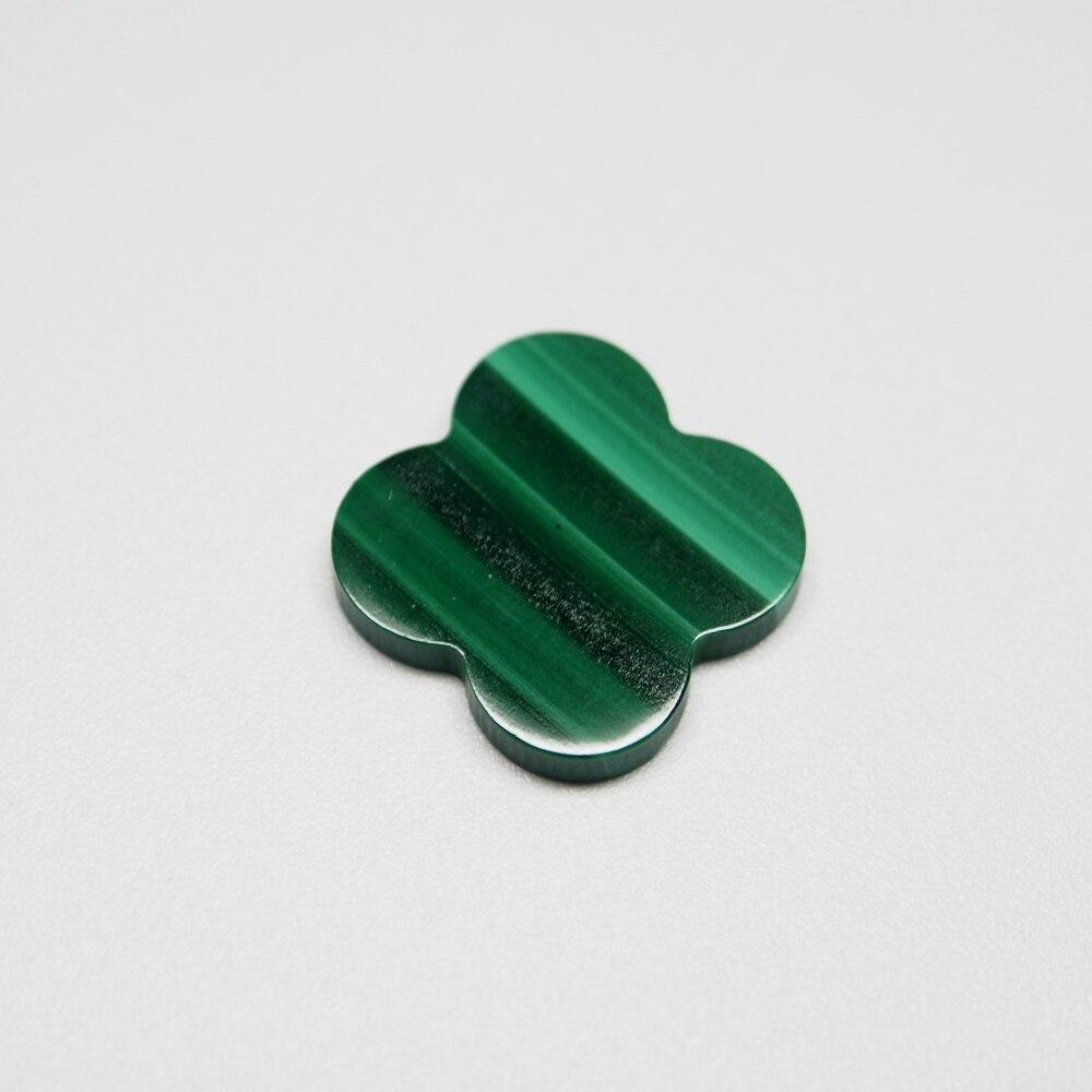 8*8mm 50 pièces/un lot de pierres précieuses de malachite verte naturelle trèfle à quatre feuilles pour la fabrication de bijoux