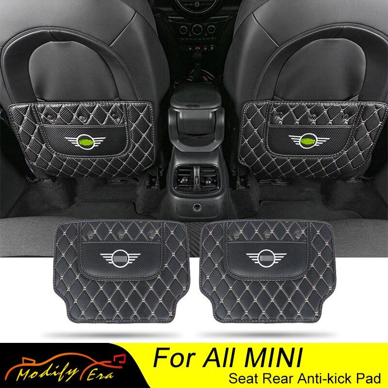 Car Seat Rear Back Anti Dirty Pad Baffle Mat Carbon Fiber Stickers For Mini Cooper S F54 F55 F56 F57 F60 R55 R56 R57 R60 R61 JCW