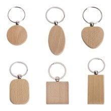 5 pçs em branco chaveiro de madeira diy chaveiros de madeira chaveiros chaveiros chaveiro presentes promocionais chaveiro diy decoração suprimentos