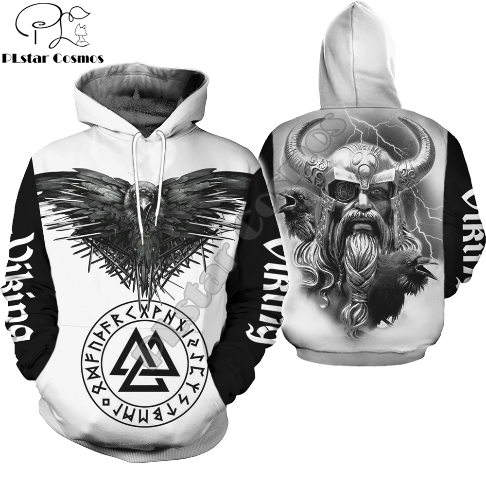 Viking Symbol - Odin Tattoo 3D Printed Men Hoodie Harajuku Fashion Hooded Sweatshirt Street Jacket Autumn Unisex Hoodies WSR-11
