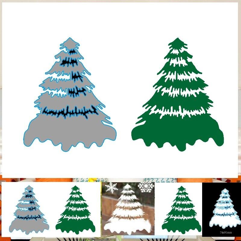 Рождественская елка металлические режущие штампы стальная штамп для теснения с вырезами ремесленные бумажные карточки для скрапбукинга альбом шаблоны 2019 дерево вырезанные штампы|Вырубные штампы|   | АлиЭкспресс