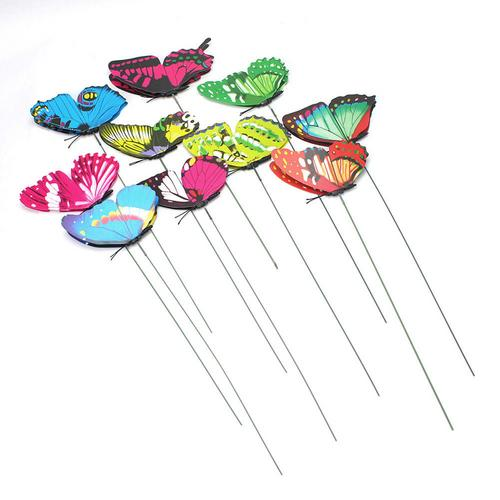 10pcs Butterflies Garden Yard Planter Colorful Whimsical Butterfly