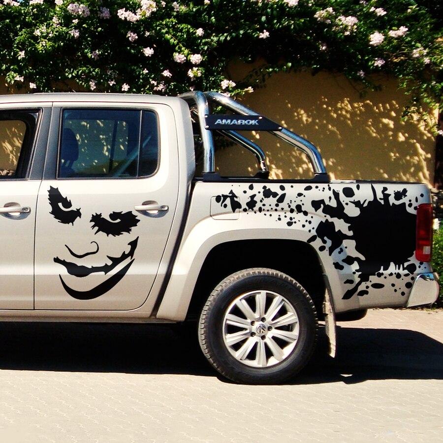 1 Set Includs 7 Pieces Joker Graphic Vinyl Car Stickers For SUV PICKUP Body Door Rear Door And Bonnet