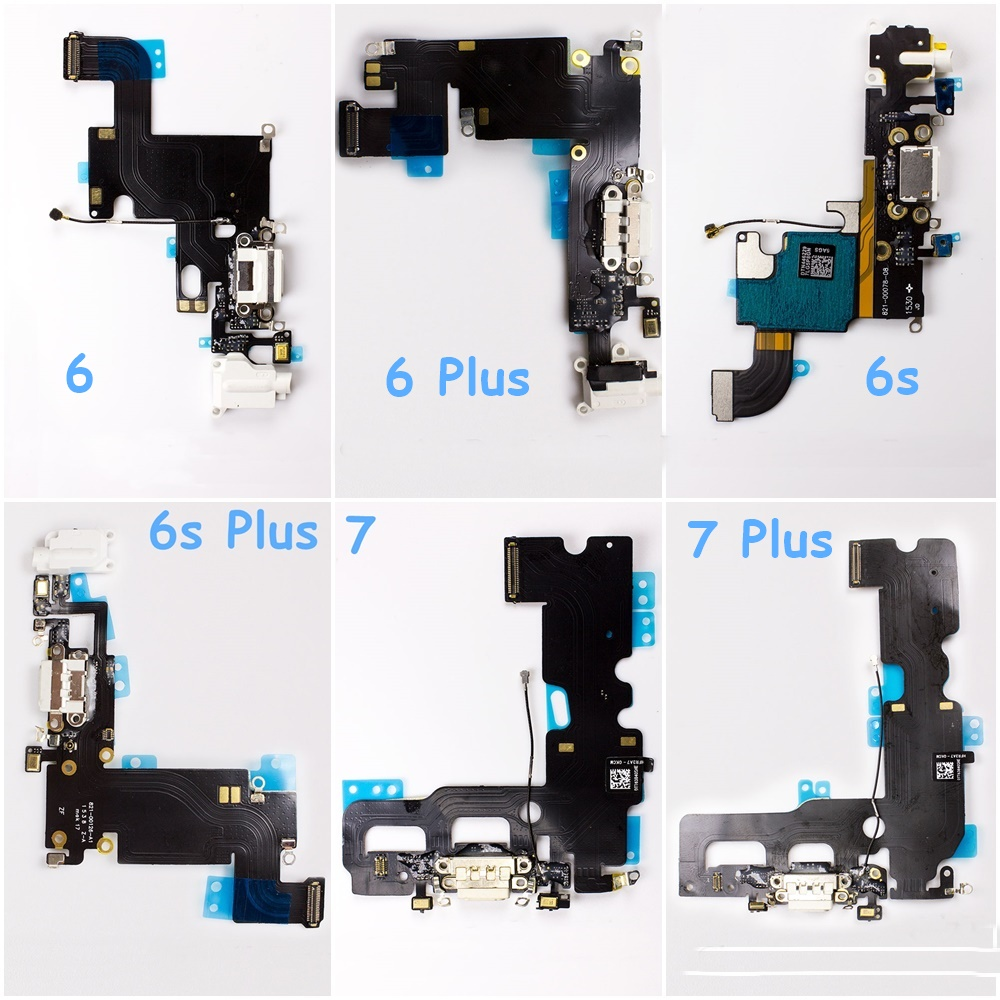 1 Pcs Mobile Phone Charging Flex Cable For Apple <font><b>iPhone</b></font> 6 <font><b>6s</b></font> Plus <font><b>6s</b></font> 7P 8P USB Charger Port Dock <font><b>Connector</b></font> With Mic Flex Cable + image