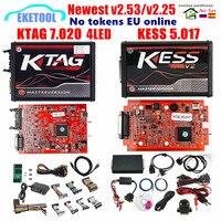 KESS V2 5 017 V 2 53 EU Version KESS V2 V 5 017 KTAG V 7 020 V 2 25 4LED Online KESS 5 017 KTAG 7 020 ECU Programmierer Upgrade Tool