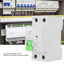 цена на 2Pin 63A 30mA Circuit Breaker Multifunction Leakage Protection Equipment Safey Device With Overload And Short Circuit Protection