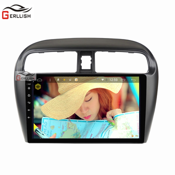 9 inch 2.5D IPS Android 8.1 NAVI Tempered HD multi-touch screen for Mitsubishi mirage attrage 2012-2018 support WiFi USB GPS image