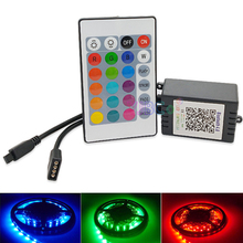 Wholesale 24 Keys Bluetooth Led RGB Controller key IR Remote led lamp dimmer For 5050 3528 SMD LED Strip light