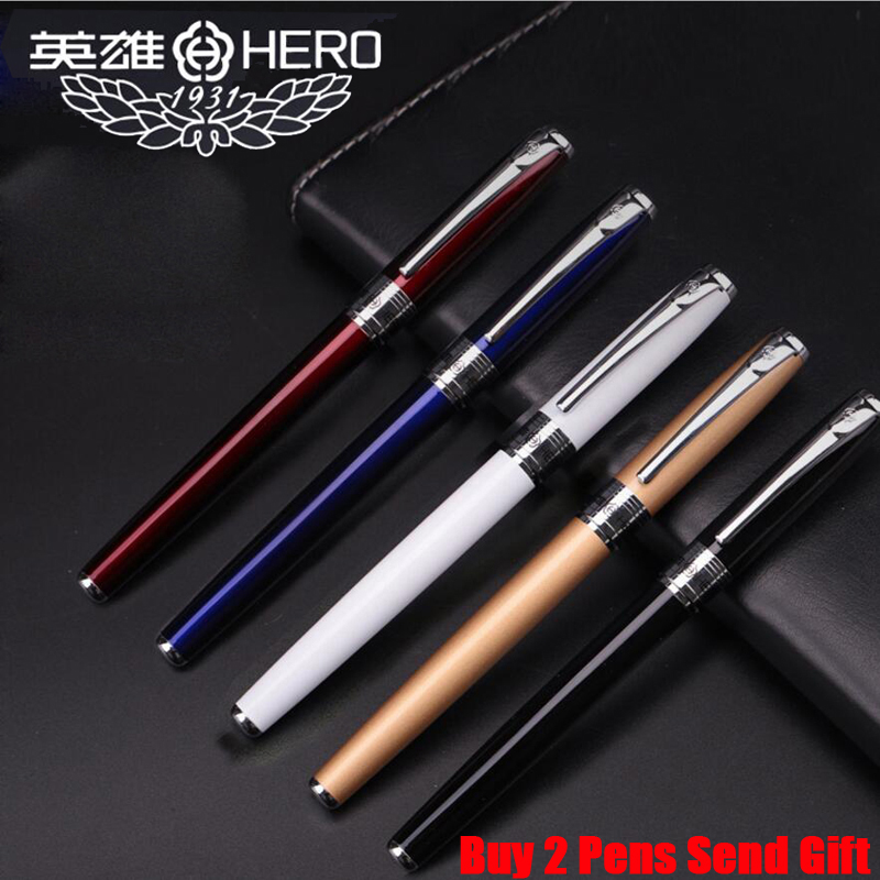 Free Shipping 2019 New Arrival Hero Brand Fountain Ink Pen Office Executive Gift Business Pen Buy 2 Pens Send Gift