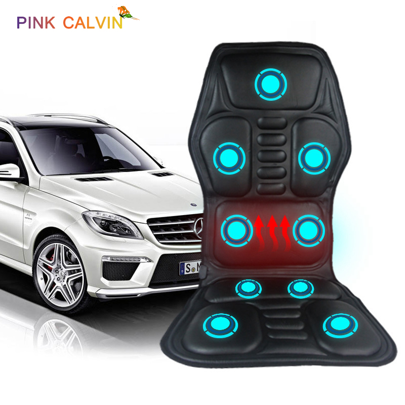 Electric Heating Massage Chair Cushion Car Home Office Neck Full Body Massage Mattress Pain Relief Vibrating Back Massager image