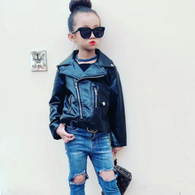 Kids Leather Jackets Girls 2019 Spring Autumn Leather Jackets Kids Girls Coats and Motorcycle Jackets Toddler Boys Outerwear цена в Москве и Питере