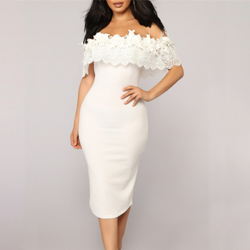 Elegant Off Shoulder Lace Dresses
