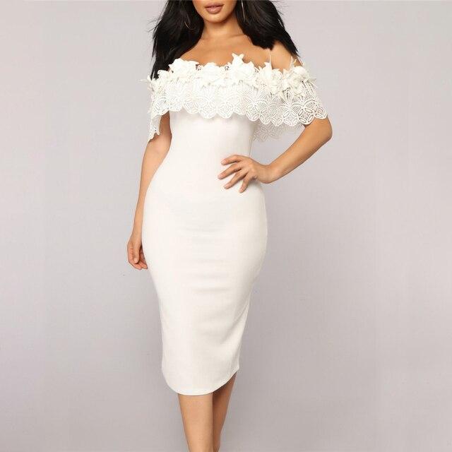 Elegant Off Shoulder Lace Dresses