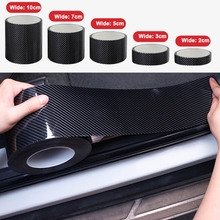5D углеродное волокно нано клей защитная Автомобильная наклейка пленка край двери защитная для двери БАГАЖНИКА АВТОМОБИЛЯ порога полный корпус наклейка виниловый аксессуар